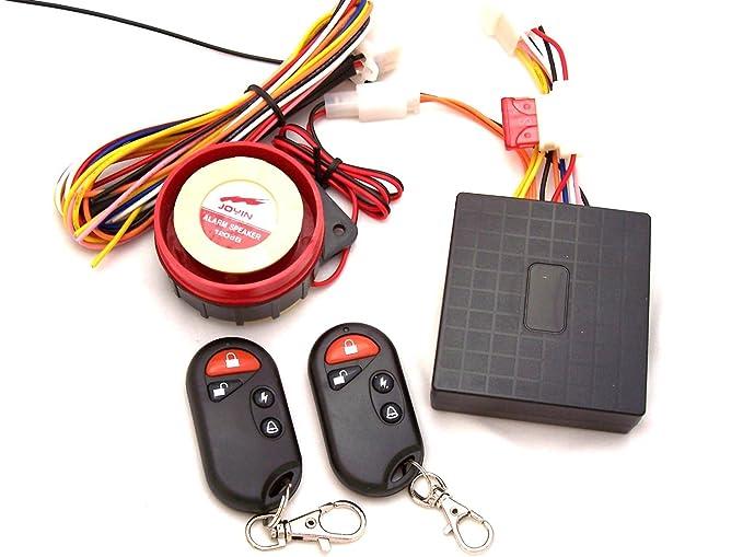 Pixtic - Alarma de audio y luz para Moto/scooter,Sirena de 120 dB. alcance 100 m+2 control remoto