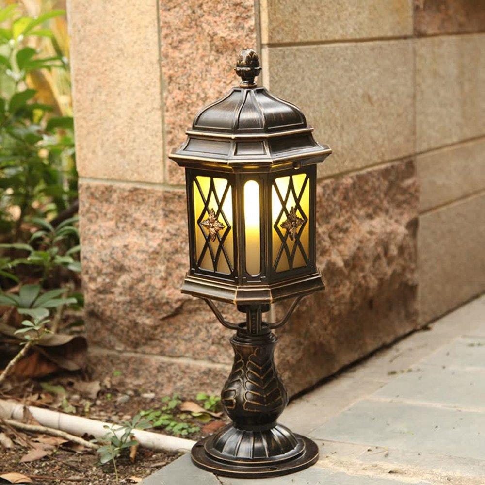 Neixy - 屋外の列ランプ伝統的な古典的なスタイルの外面防水柱のライトヨーロッパスタイルの近代的なミニマリストアルミガラスE27ソケットポストライトユニークなクリエイティブな街灯芝生の庭の中庭ドアプールの柱の柱の照明 B07DG1QN69