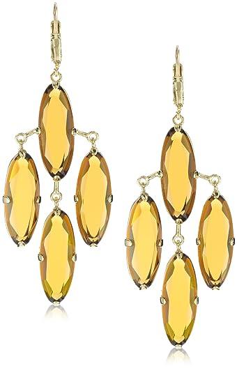 Amazon kate spade new york kahina chandelier earrings in kate spade new york quotkahinaquot chandelier earrings in amber color aloadofball Image collections