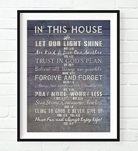 Amazoncom Christian Bible Verses Family Rules In This House Art