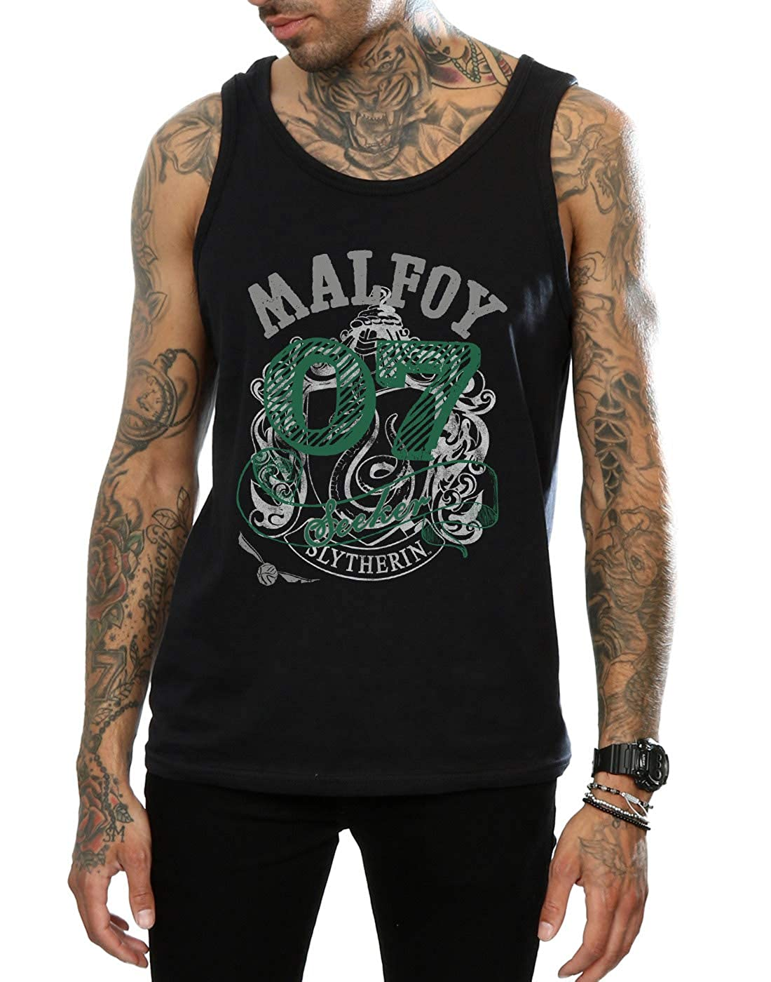 HARRY POTTER Mens Draco Malfoy Seeker Tank Top