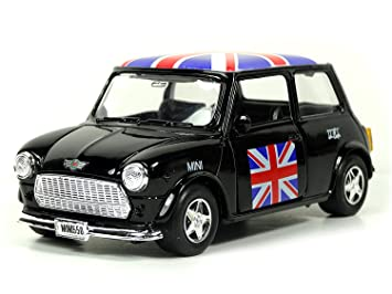 Mini Cooper Models >> Mini Cooper Model Black With Union Jack Top Made Of Die Cast Metal