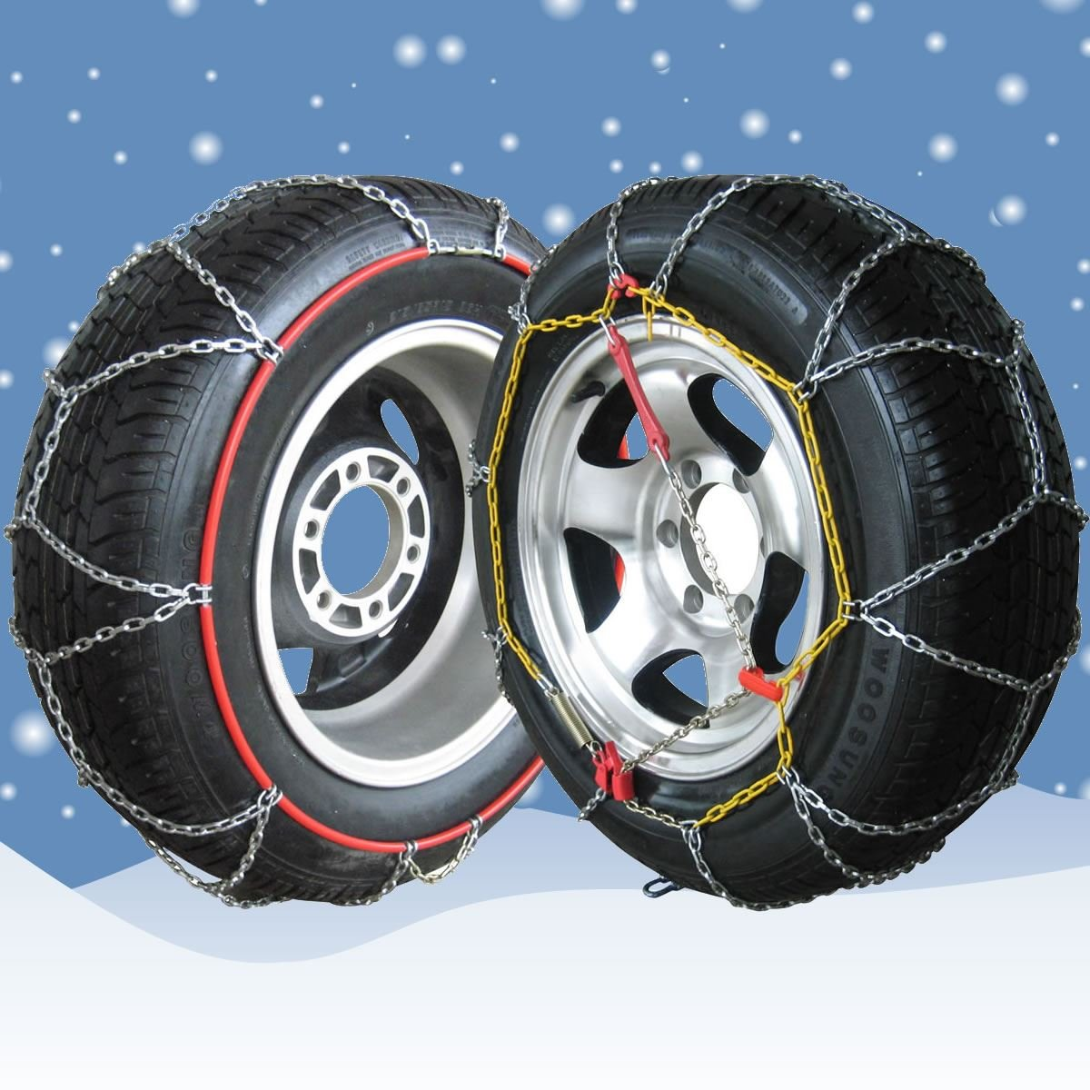 MP Essentials Sumex Husky Winter Professional 16mm 4WD Snow Chains for 20 Car Wheel Tyres 265//50 R20 Pair