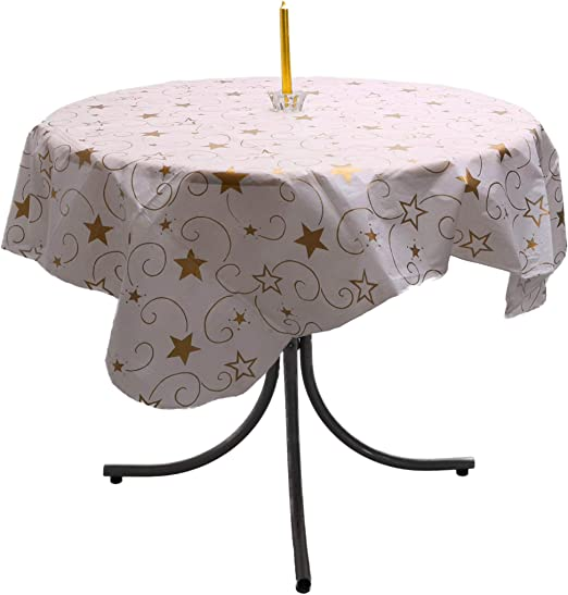 """52/"""" x 52/"""" Red Star Table Cloth Christmas Decoration DP67 B"""
