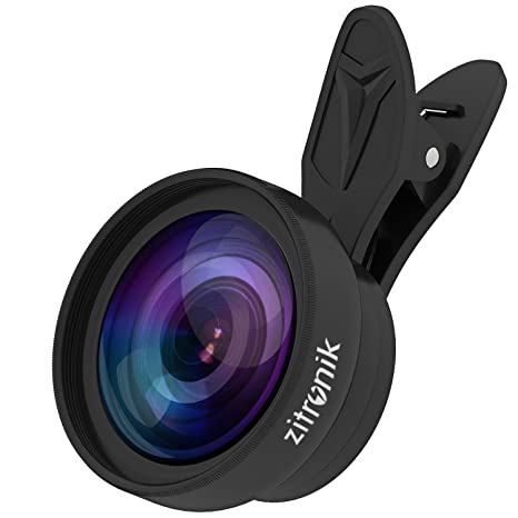 Zitronik 2-in-1 HD Camera Lens Kit Bundle with 0 6X Wide Angle Lens, 15X  Macro Lens and Clip-On Lens for Smartphones