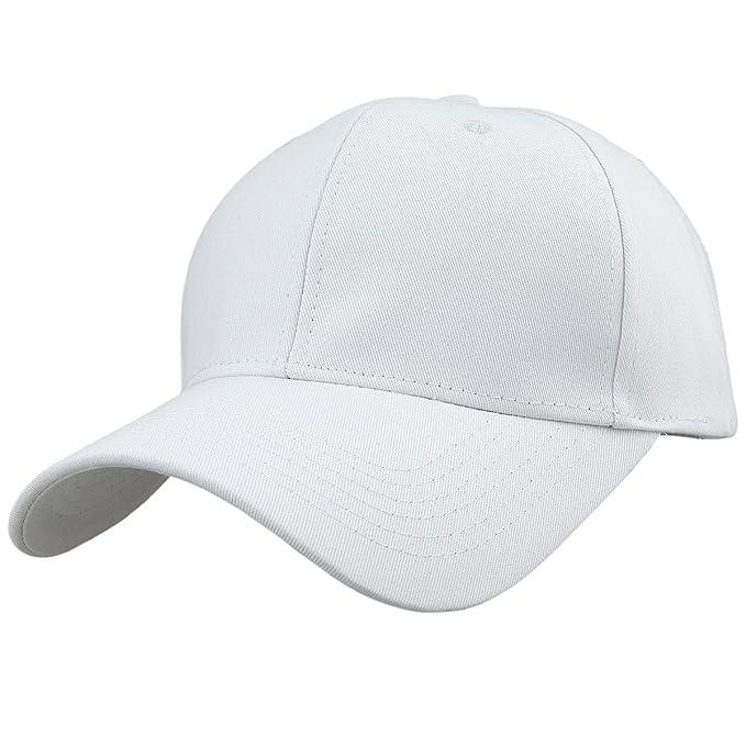 KYEYGWO - Gorra de béisbol - para Hombre Blanco Blanco Talla única ...