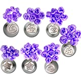 Misula 7pcs/lot Russian Tulip Stainless Steel Icing Piping Nozzles Pastry Decorating Tips Cake Cupcake Decorator