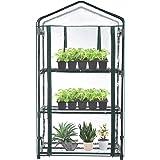 "TOOCA Mini Greenhouse 3-Tier 27"" X19"" X 50"" Portable Plant Greenhouse for Indoor Outdoor Gardens/Patios/Backyards, Small Gard"