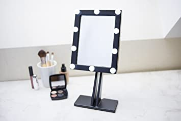 Makeup Mirror With Lights Hollywood Lighted Vanity Wood Bathroom