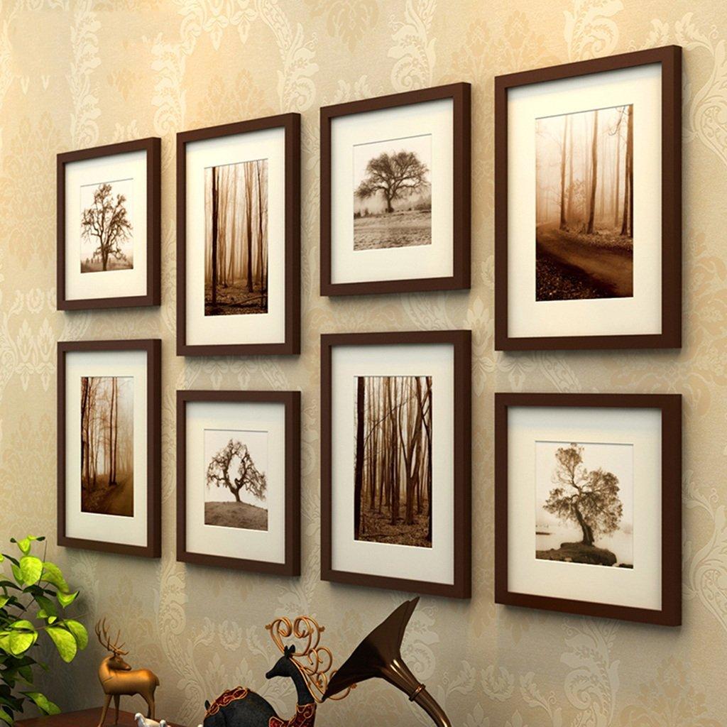 Unbekannt Thick Massivholz 8 Bilderrahmen Moderne Kombination Foto Wall Decor Frame -LI Jing Shop