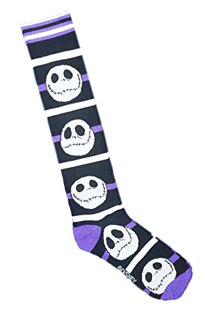 nightmare before christmas womens jack skellington knee high socks multi