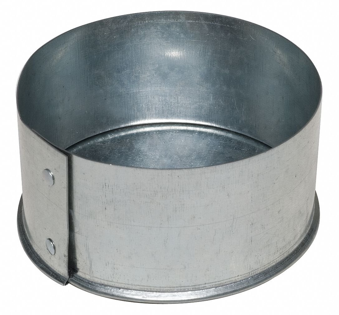 Galvanized Steel End Cap, 14'' Duct Fitting Diameter, 2'' Duct Fitting Length