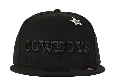 Amazon.com   New Era Dallas Cowboys NFL 9Fifty Pinned Snapback Black ... dbe9d143b90