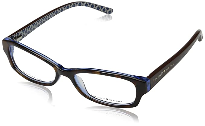 971cee8df74e Amazon.com: Kate Spade Sheba Eyeglasses-0JZM Tortoise Royal Blue ...
