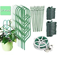Indoor Plant Trellis for Climbing Plants Bundle Pack - 6 Leaf Shape Garden Plant...