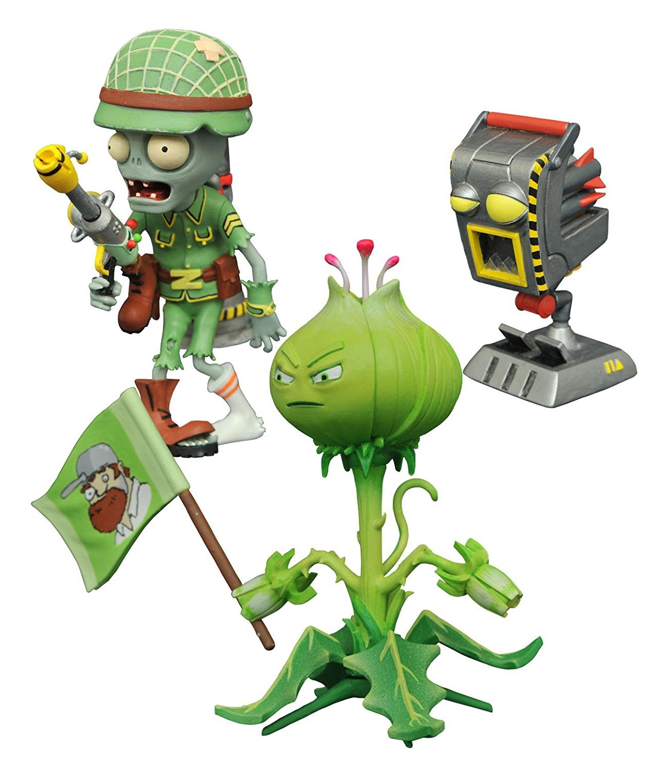 Diamond Select Toys Plants vs. Zombies: Weed vs. Soldier Zombie Select Action Figure (2 Pack) Diamond Comic Distributors MAY168246