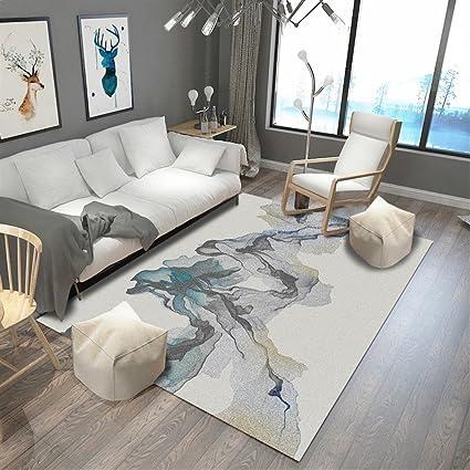 Ommda tappeti Salotto Soggiorno Moderni Home Stampa 3D tappeti Soggiorno  Pelo Corto Antiscivolo Lavabili 160x230cm 9mm