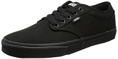 4d4e834657 Vans Men s Atwood Canvas Total Black Low-Top Sneakers  Amazon.co.uk ...