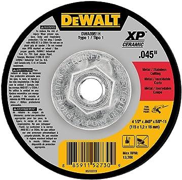 Amazon Com Dewalt Dwa8951h 4 1 2 X 045 X 5 8 11 Xp Ceramic Mini Hub Cuttin Wheel Type 1 Home Improvement