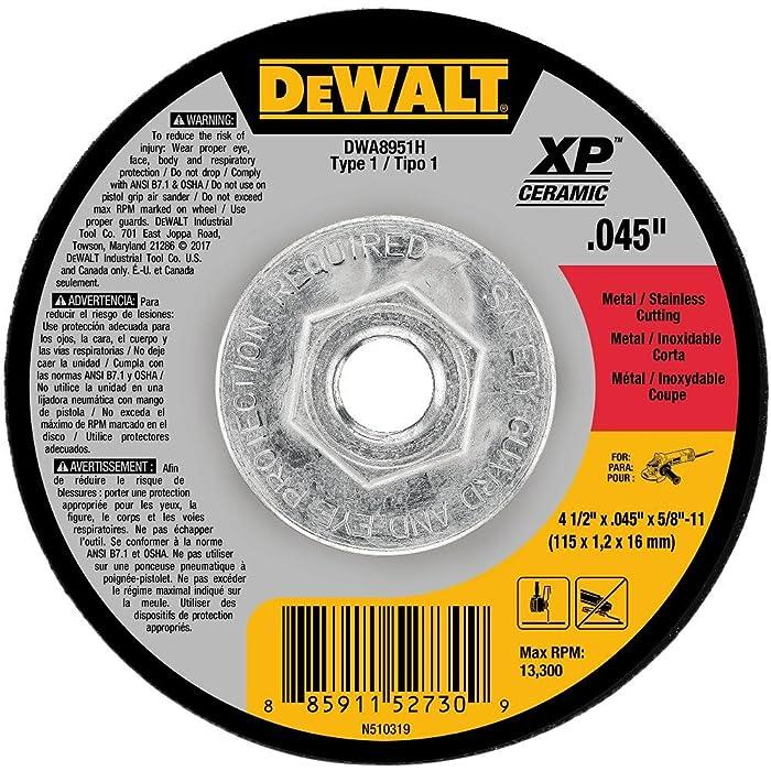 """DEWALT DWA8951H 4-1/2"""" x .045"""" x 5/8""""-11 XP Ceramic Mini Hub Cuttin Wheel Type 1"""