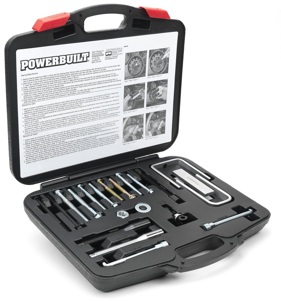 Powerbuilt Master Steering Wheel and Lock Plate Puller Kit 648748
