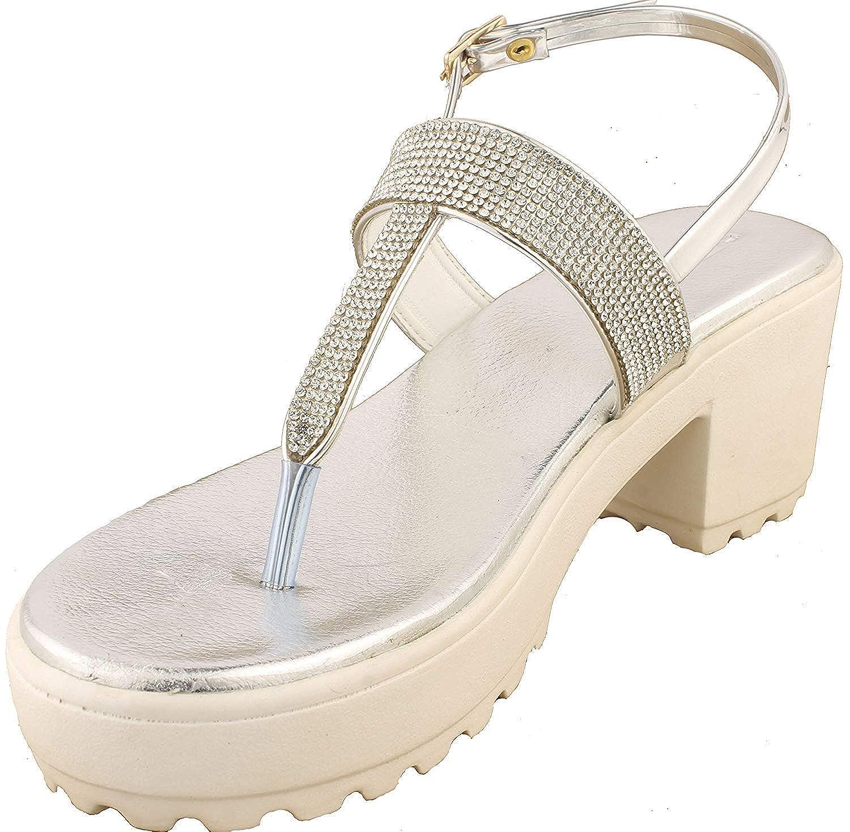 Buy BFM Designer Silver Sandals