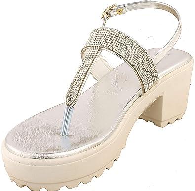 755b4a5048abd BFM Designer Silver Sandals | Ladies Sandal |Fancy Sandal |Women Heels | Ladies  Slippers
