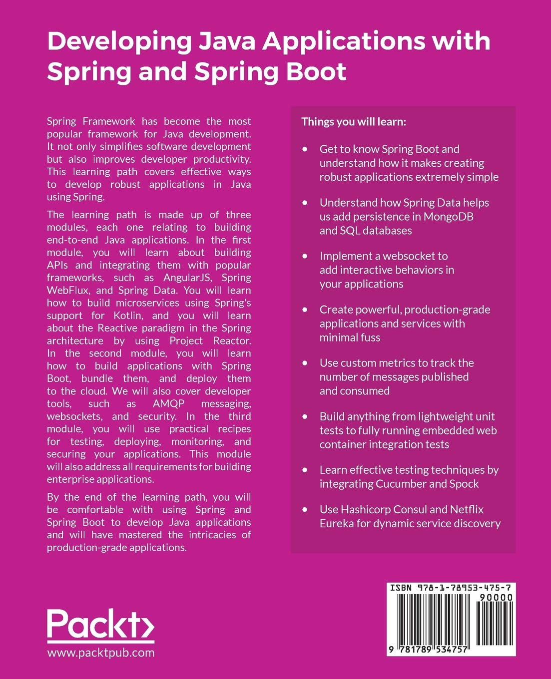 Developing Java Applications with Spring and Spring Boot: Claudio