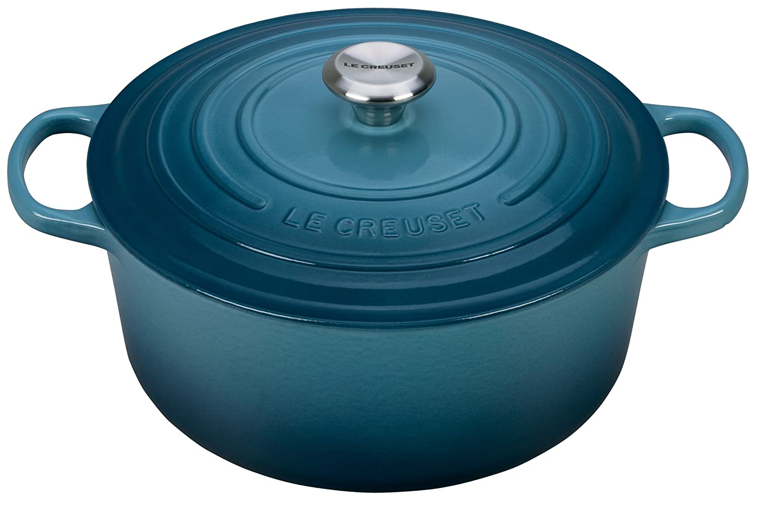 Le Creuset Signature Enameled Cast-Iron 7-1/4-Quart Round French (Dutch) Oven, Marine