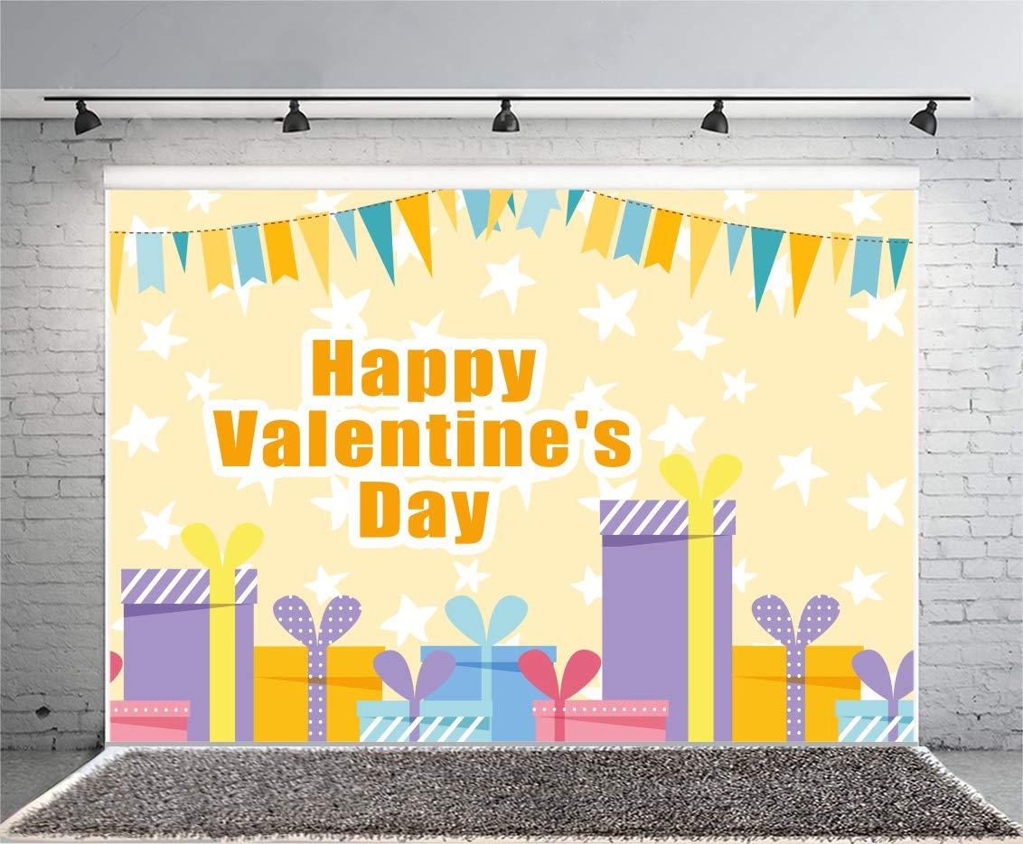 Leyiyi 6 x 4フィート バナーフラッグ 色付きボード 写真 背景 パーティー バルーン ギフトボックス リボン 星 背景 サント バレンタインデー 素朴なコテージルーム インテリア 写真 ポートレート ビニール スタジオ小道具   B07GS5N231