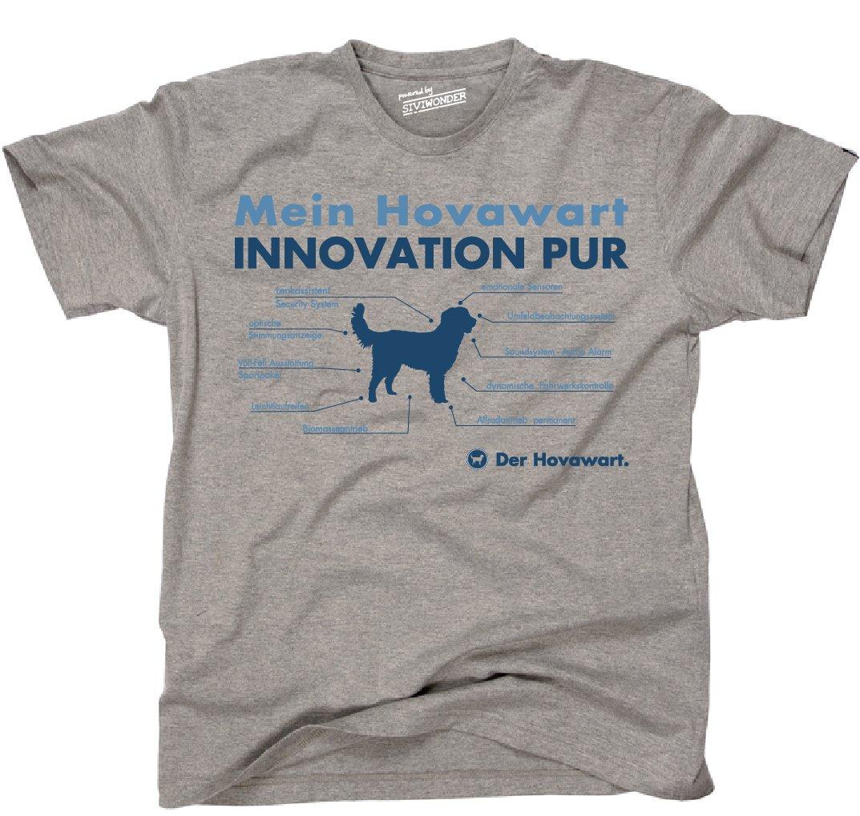 Siviwonder Unisex T-Shirt INNOVATION HOVAWART TEILE LISTE Hunde lustig fun:  Amazon.de: Bekleidung