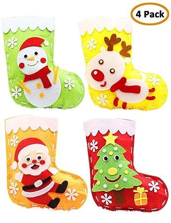 Mimgo Shop Sewing Kit For Kids Christmas Kit Felt Applique Diy