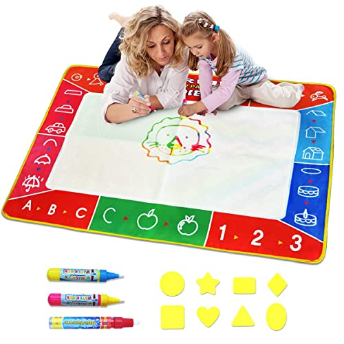 Meland Large Water Doodle Mat Colorful 394 X 275 Inch Magic Drawing Pad With