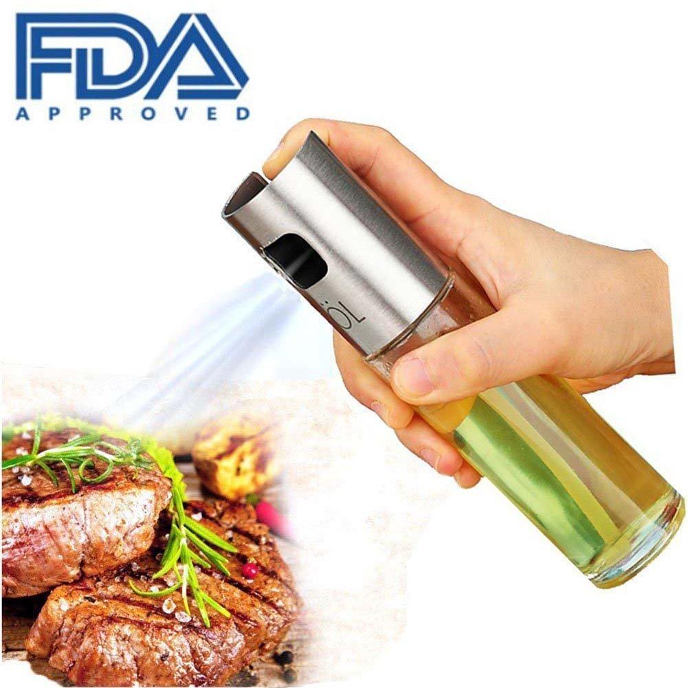7-Almond Olive Oil Sprayer,Food-grade Glass Oil Spray Bottle Vinegar Bottle Oil Dispenser for Barbeque,Salad, Cooking, Baking Roasting, Grilling, Frying, Kitchen( 1 Pack)