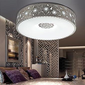 jj moderna lmpara de techo led circular ambiente moderno de acero inoxidable led blanco acrlico de