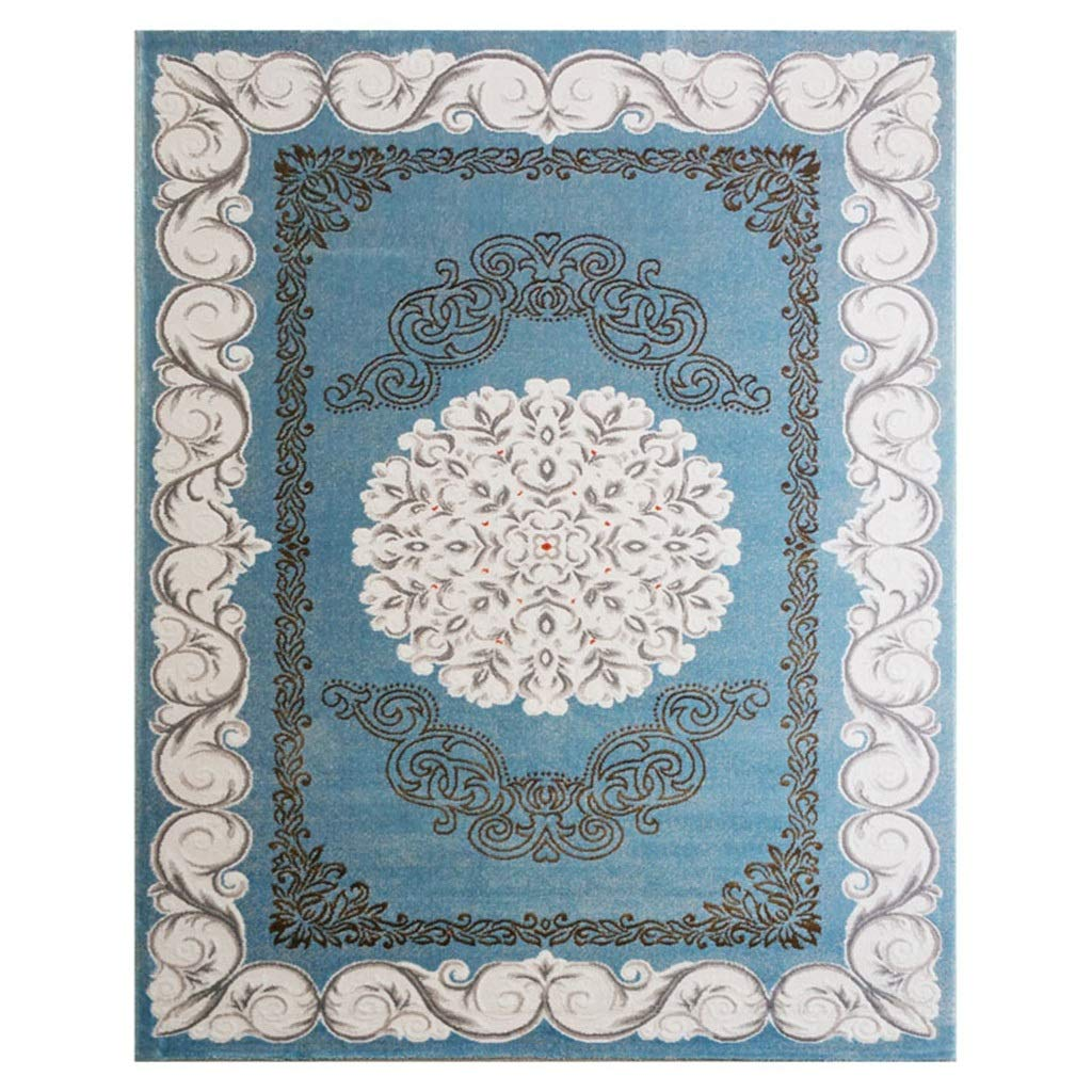 柔らかいベッドルームリビングルームダイニングルームキッチン滑り止めフロアマット長方形の青 (色 : A, サイズ さいず : 160x230cm) 160x230cm A B07P6HPB6Y