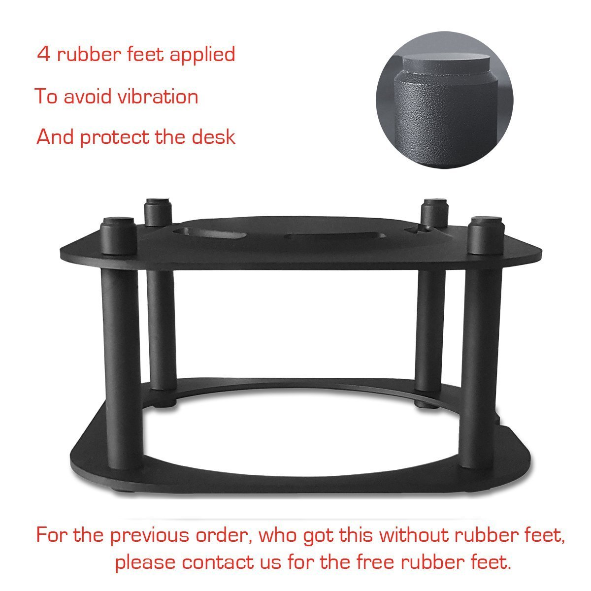 Meres Anti-Rutsch Aluminium Abnehmbare Halterung Desktop Halter Stand f/ür Homepods AI-Lautsprecher