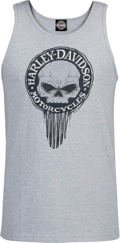 G Drip Harley-Davidson Military NSA Neapel Herren Tank Top Heather Grey Graphic