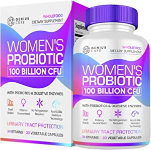 Probiotics for Women - 100 Billion CFU with Probiotic Strains Contains Vitamins, Minerals, Fruits, Veggies & Enzymes, Womens Probiotic Supplement for Digestive & Immune Health