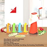 Palak 4 In 1 Drum Grater Shredder Slicer For Vegetable, Fruits, Chocolate, Dry Fruits, Salad Maker With 4 Different Attractive Drums