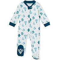 Burt's Bees Baby Baby Boys' Sleep and Play Pajamas, 100% Organic Cotton One-Piece Romper Jumpsuit Zip Front Pjs