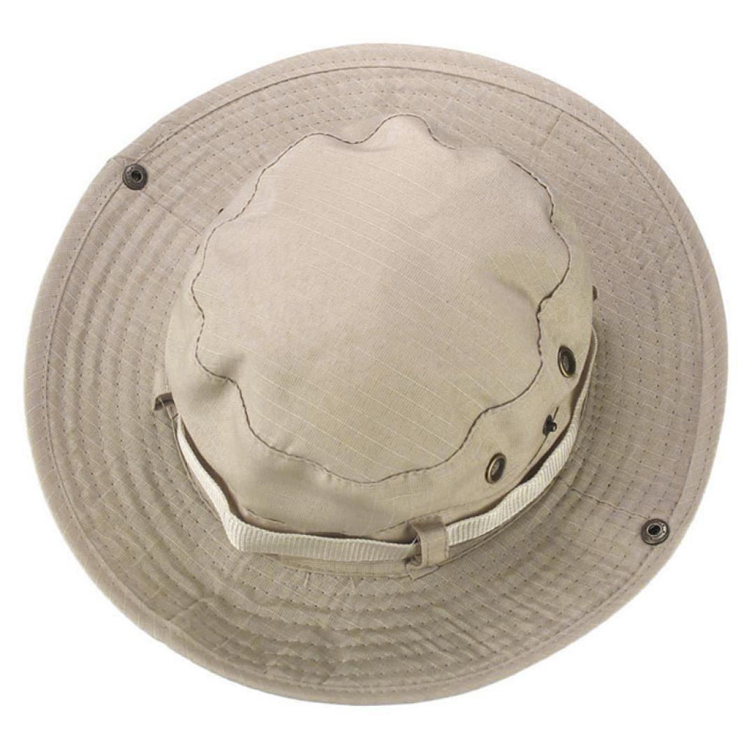 AIMTOPPY HOT, Bucket Hat Boonie Hunting Fishing Outdoor Wide Cap Brim Military Unisex Free, Beige
