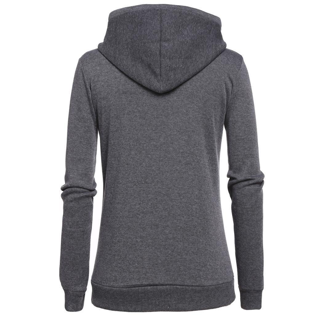 Tinement Drawstring décontracté Femmes Capuchon Long Sleeve Lettre Pull Fleece Hoodie Sweat-Shirt Sweats à Capuche