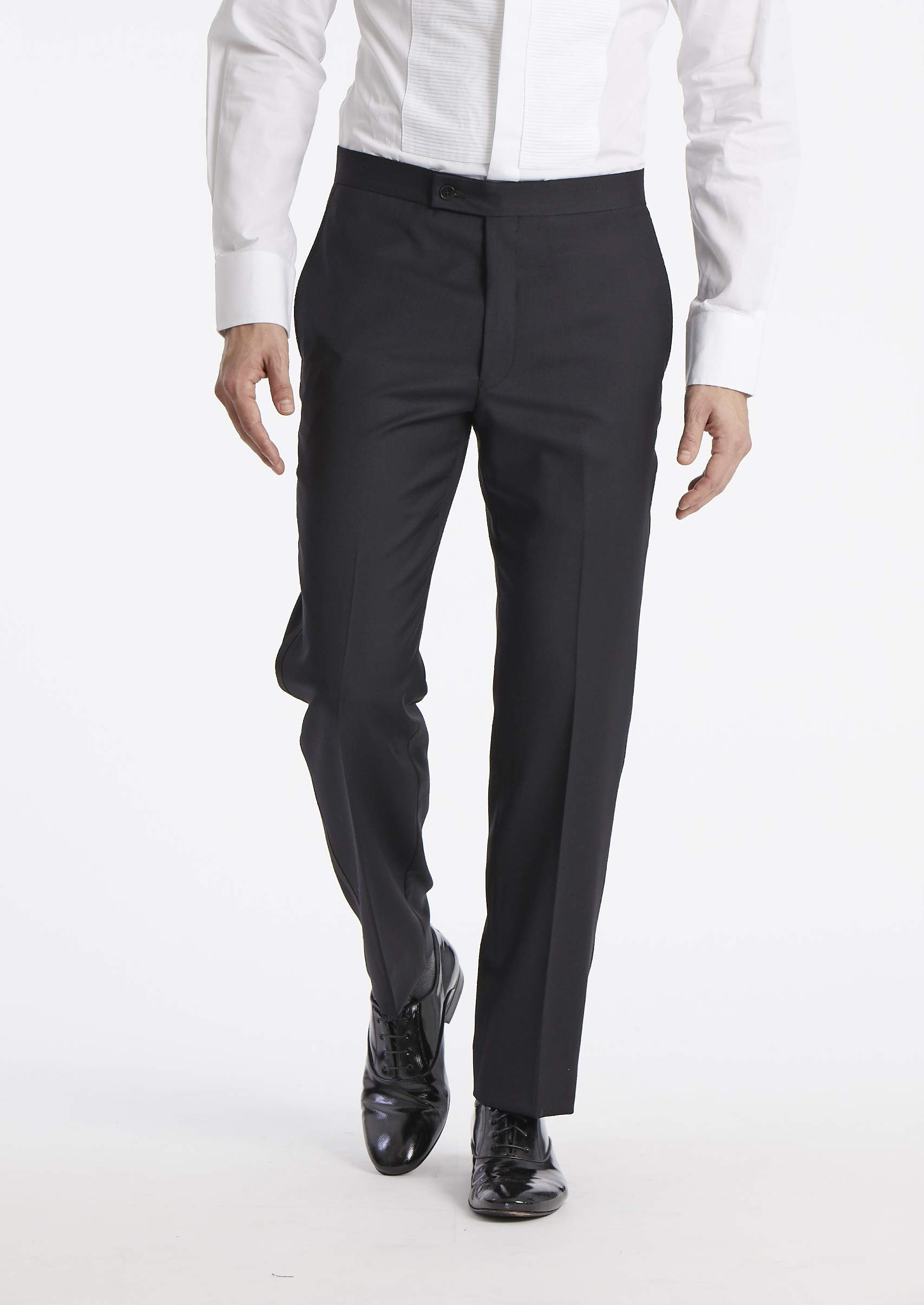 Calvin Klein Men's Modern Fit 100% Wool Tuxedo Suit Separates-Custom Blazer & Pant Size Selection, Black Pant, 34W x 32L