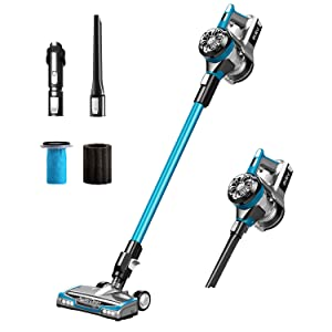 Eureka NEC222 HyperClean Cordless Vacuum Cleaner Powerful Digital Motor Anti-Allergy Lightweight Lithium Battery Cordless Stick Vacuum LED Cleaner Head Handheld Vacuum