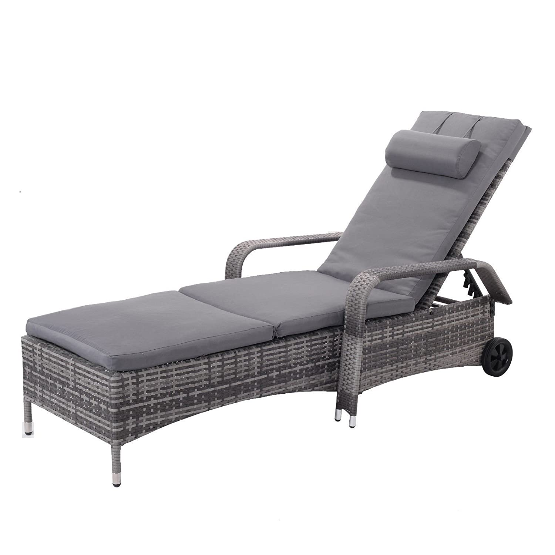 Pleasant Amazon Com Myeasyshopping Outdoor Rattan Adjustable Andrewgaddart Wooden Chair Designs For Living Room Andrewgaddartcom