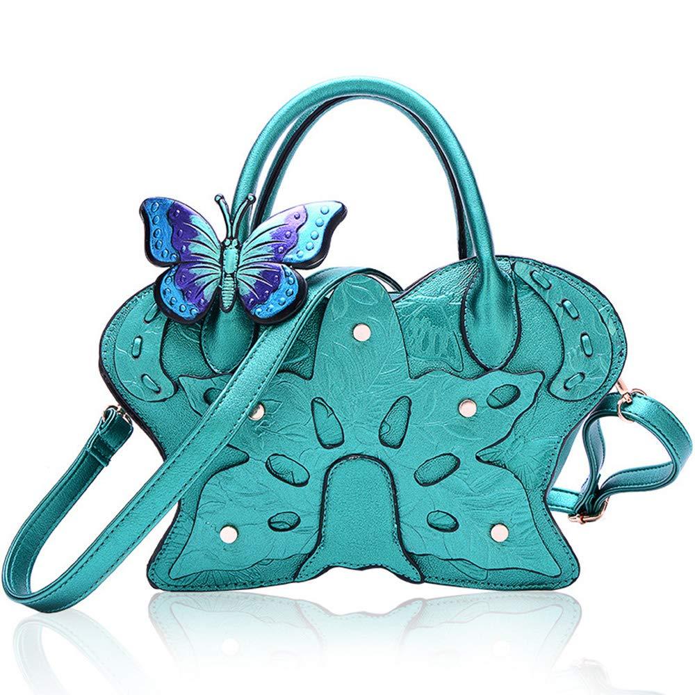 Green My sky Top Handle Satchel Handbag For Women Floral Purses Genuine Leather Shoulder Bag Crossbody Bags