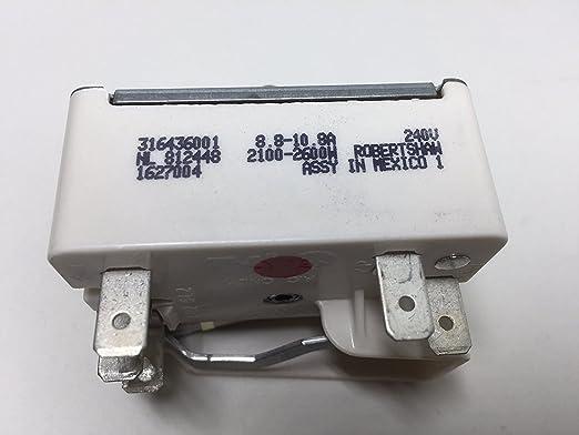 PartsDoc Frigidaire Electrolux 316436001 - Interruptor de Repuesto ...