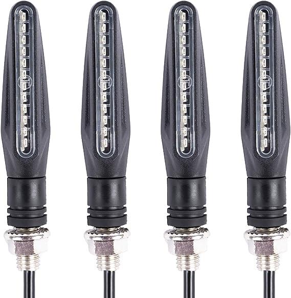 SFONIA 4pz Indicatori di Direzione Moto LED Retr/ò Trasformare Segnale Luce Freccia di Luce 12V Trasformando Indicatore Luce Universale