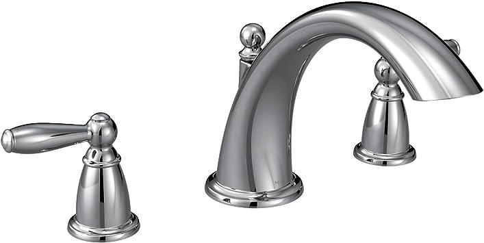 Moen T933 Brantford 2 Handle Deck Mount Roman Tub Faucet Trim Kit Valve Required Chrome Bathtub Faucets Amazon Com